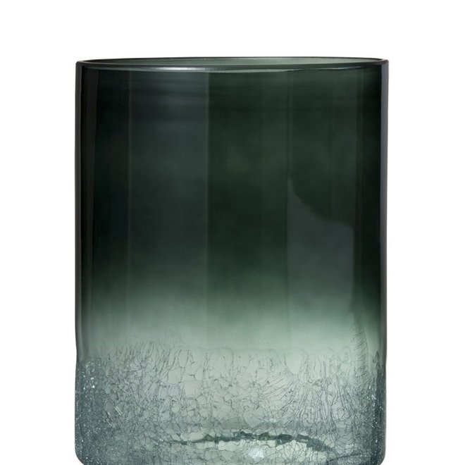 Vaas+vt  rond cra bod gl d grn (25x25x39cm)
