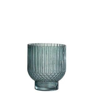 Winkel voor Thuis Collectie Vaas ribbels rnd gl grn l (19x19x22cm)