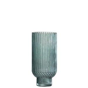 Winkel voor Thuis Collectie Vaas ribbels rnd hoog gl grn s (13x13x27cm)