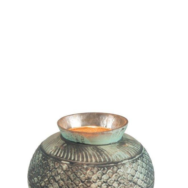 Vaas Boho Glas Azuur/Blauw - ø17 x 13 cm