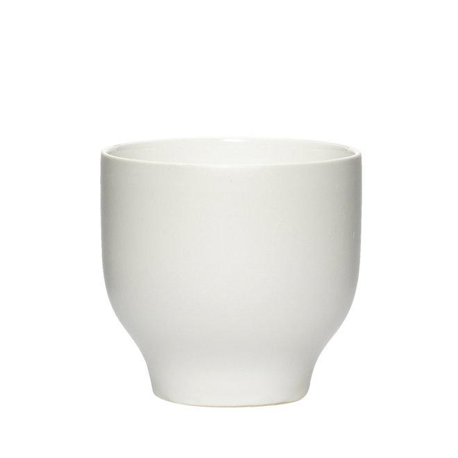 beker - wit porselein - set van 4