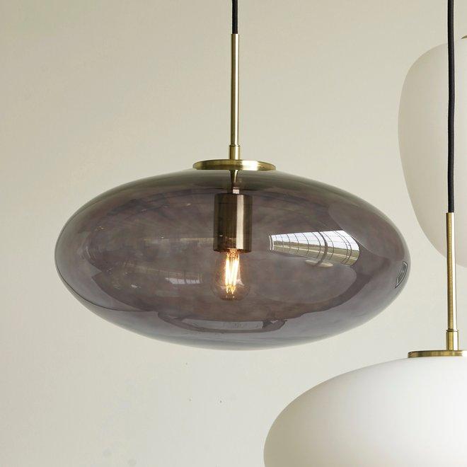 Hubsch Hanglamp Zeppelin rookglas ø40cm - 021589