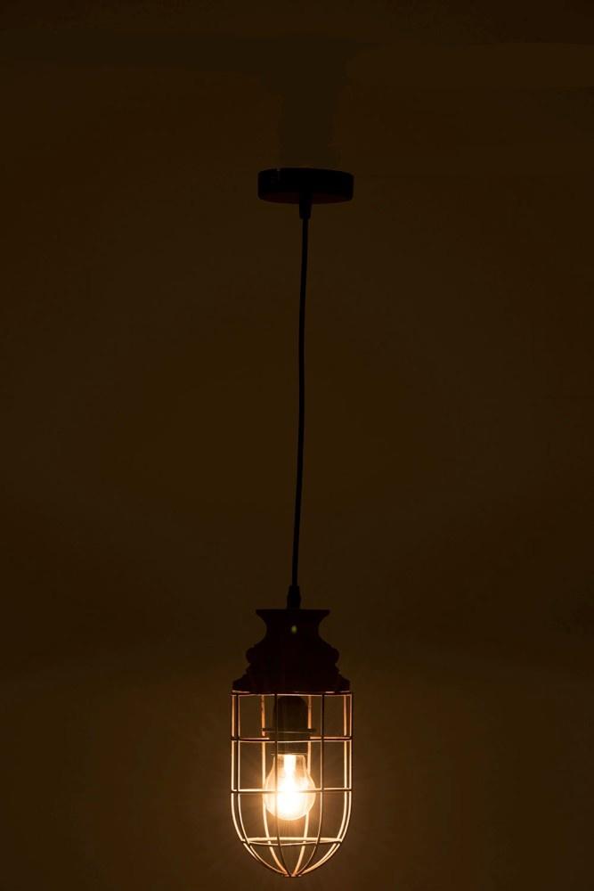 J-line Hanglamp Tune Metaal/Hout Roest
