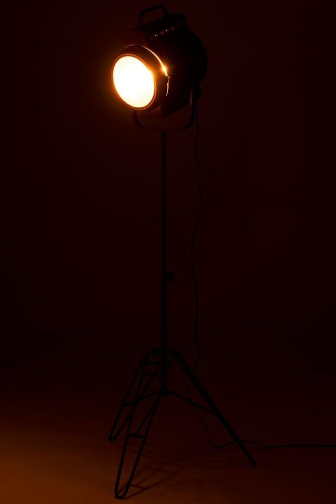 J-line Staanlamp Film Metaal/Glas Zwart
