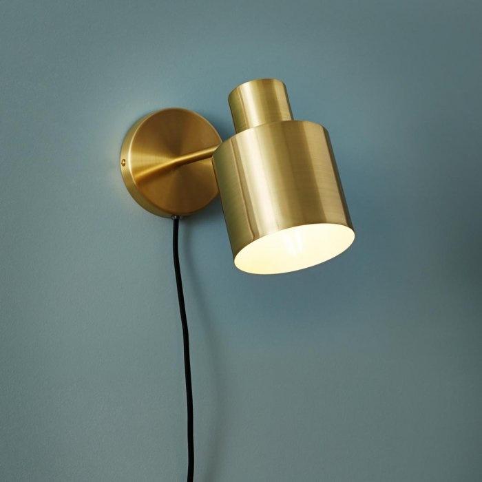 Hubsch Wandlamp goud/wit - 890302 - 29 x 12 x H17 cm-890302-5712772056134