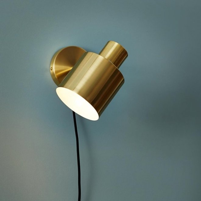 Wandlamp goud/wit - 890302 - 29 x 12 x H17 cm