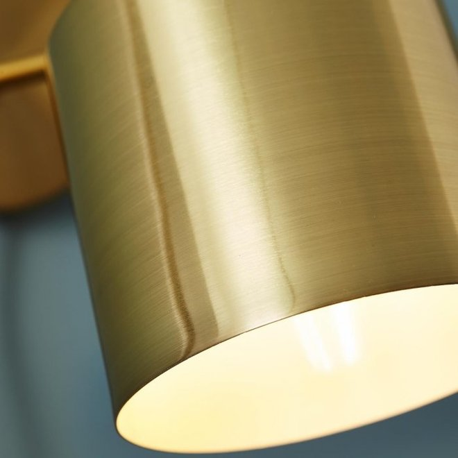Hubsch Wandlamp goud/wit - 890302 - 29 x 12 x H17 cm - 890302