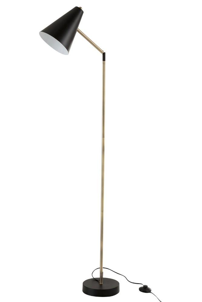 J-line Staanlamp Kegelvorm Metaal/Zwart-95958-