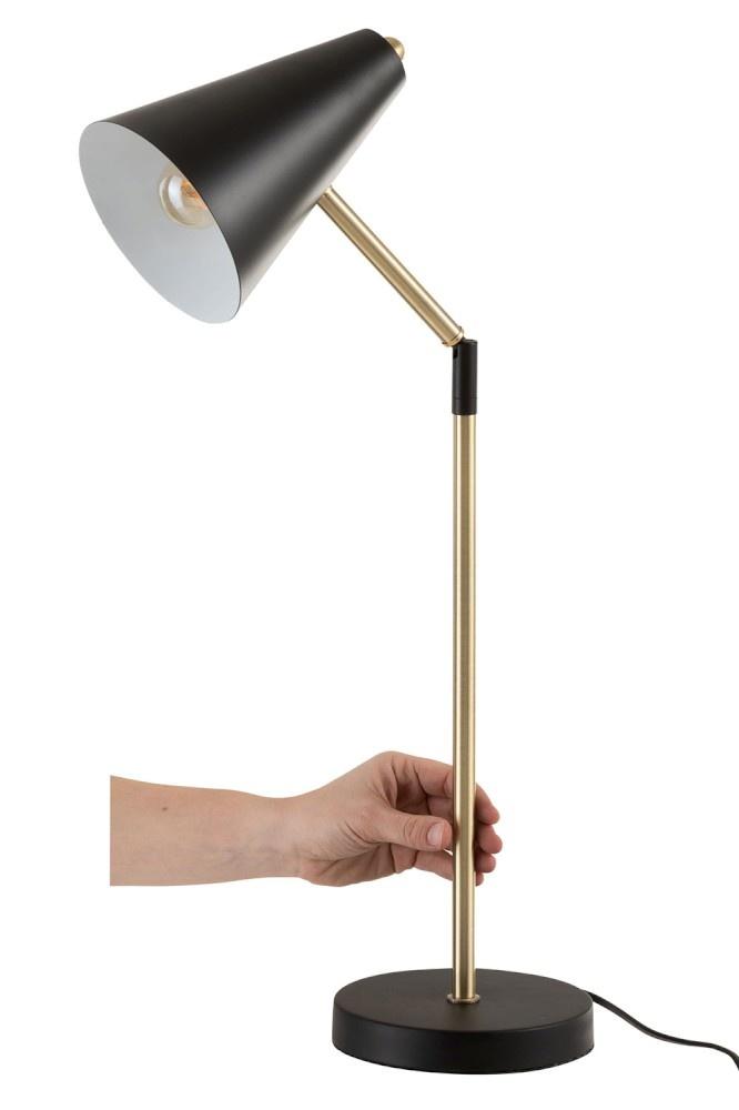 """J-line Tafellamp """"Touch"""" Metaal Zwart-95957-"""