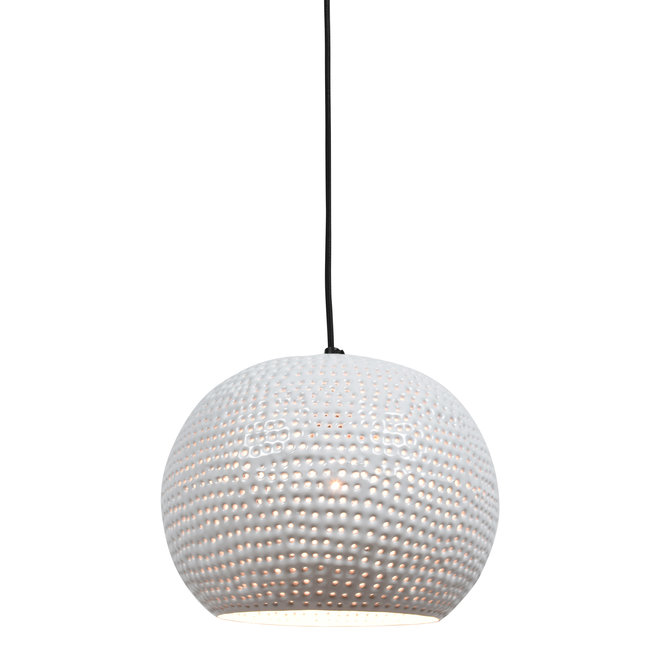 Hanglamp Spike bol ø27cm glossy white