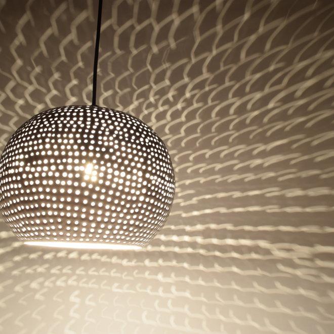 Urban Interiors Hanglamp Spike bol ø27cm glossy white