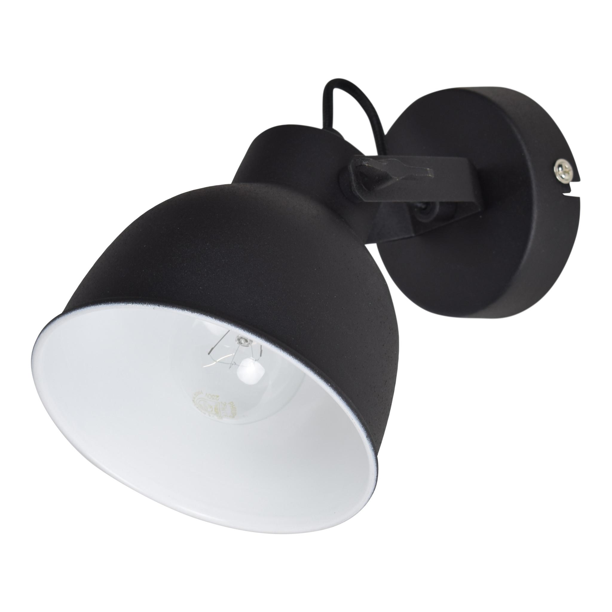 Urban Interiors Wandlamp industrieel zwart - ø14cm