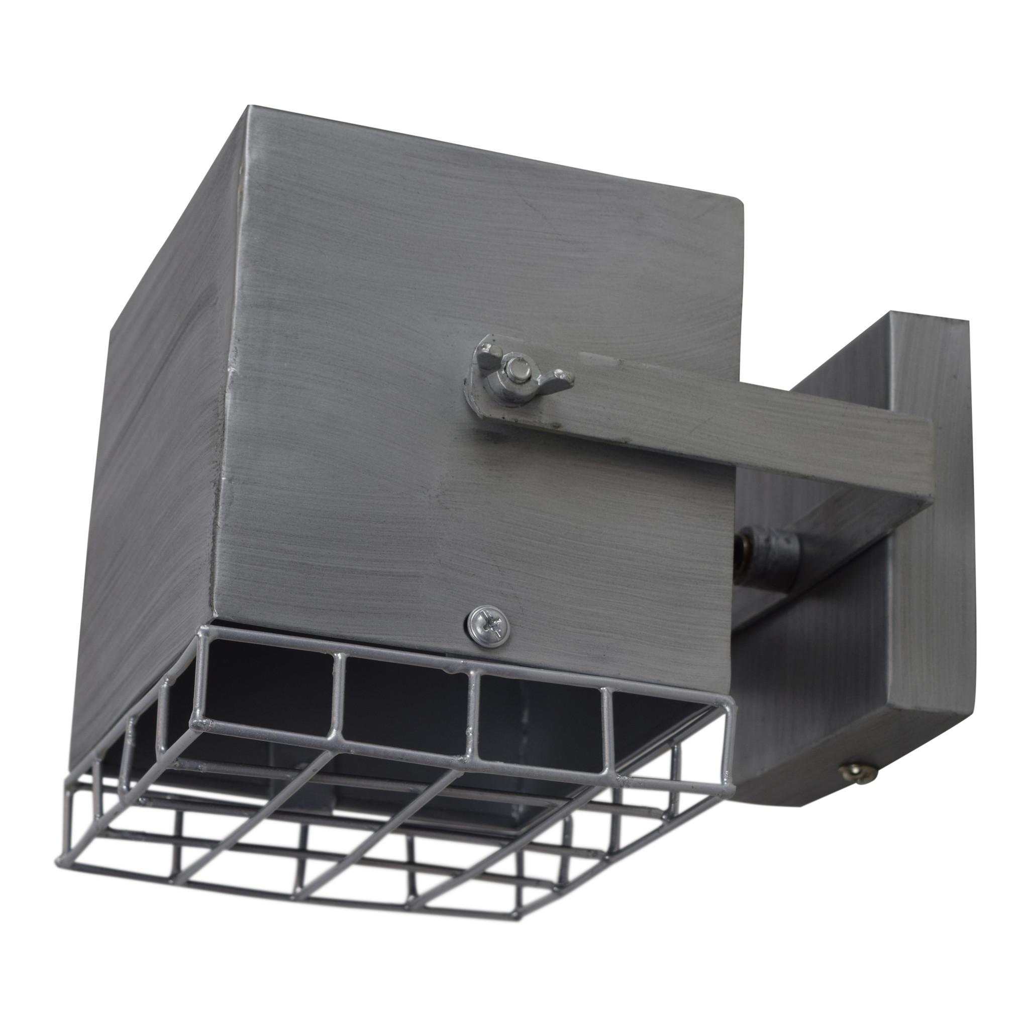 Urban Interiors Urban Interiors Wandlamp Cube Antique zink-AI-WL-11-AZ-8718868314895