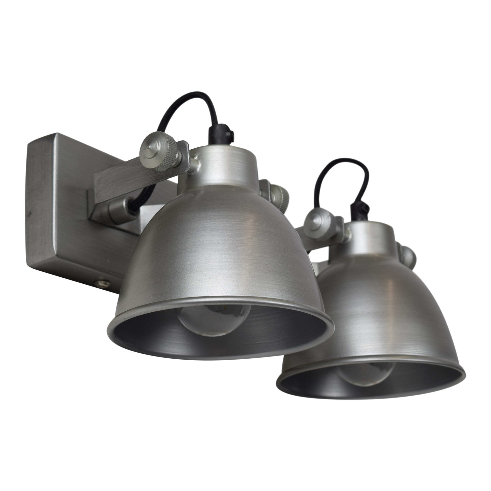 Urban Interiors Urban Interiors Wandlamp industrial double antique zink-AI-WL-DBL-21-AZ-8719325005462