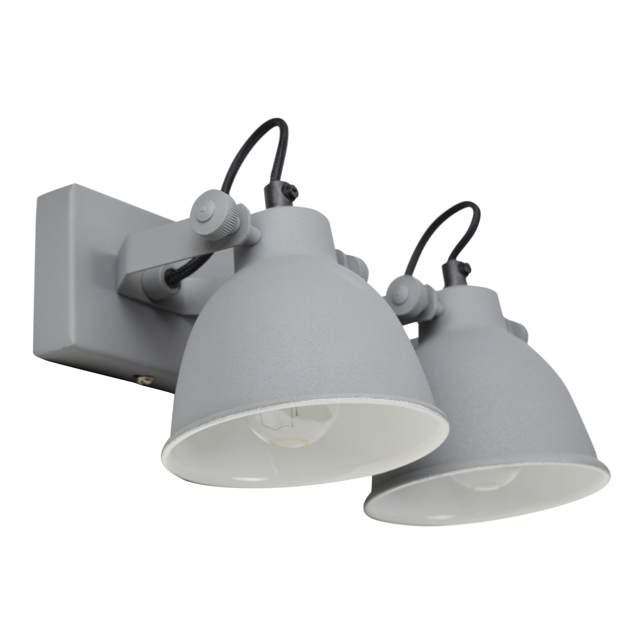Urban Interiors Urban Interiors Wandlamp industrial double vintage grey-AI-WL-DBL-21-VG-8719325005509