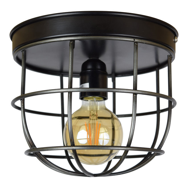Plafondlamp Barn large ø22 x 21 vintage black