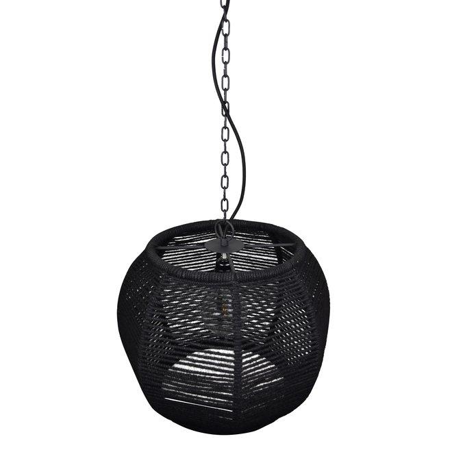 Hanglamp Rope ø43cm. Zwart