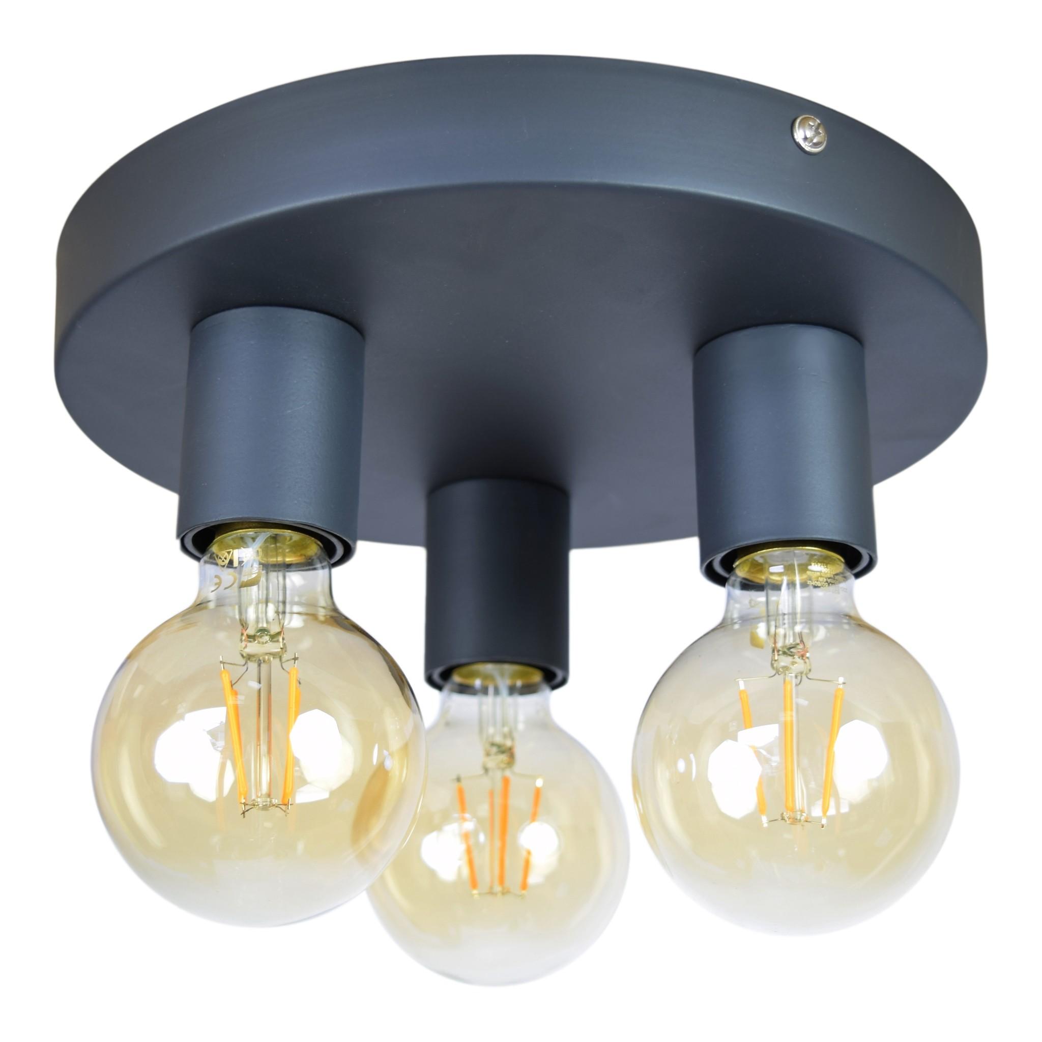 Urban Interiors Urban Interiors Plafondlamp Triple ø25cm. vintage black