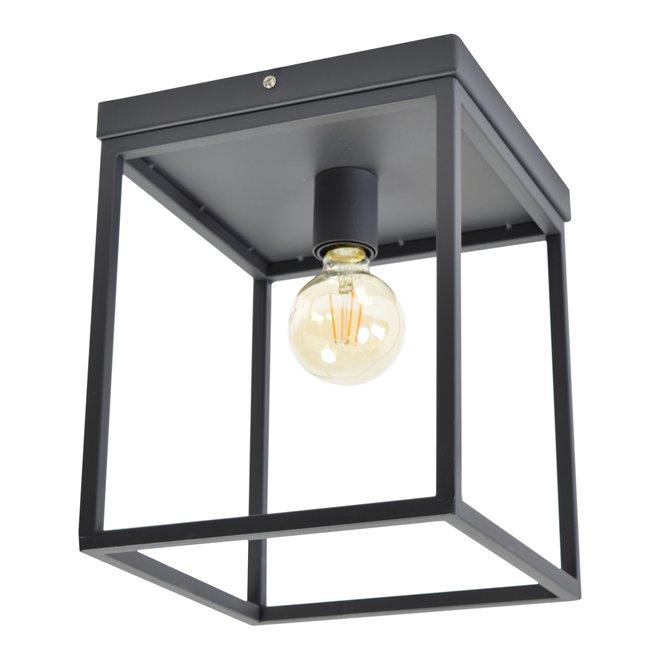 Plafondlamp Frame Zwart 25x25x31