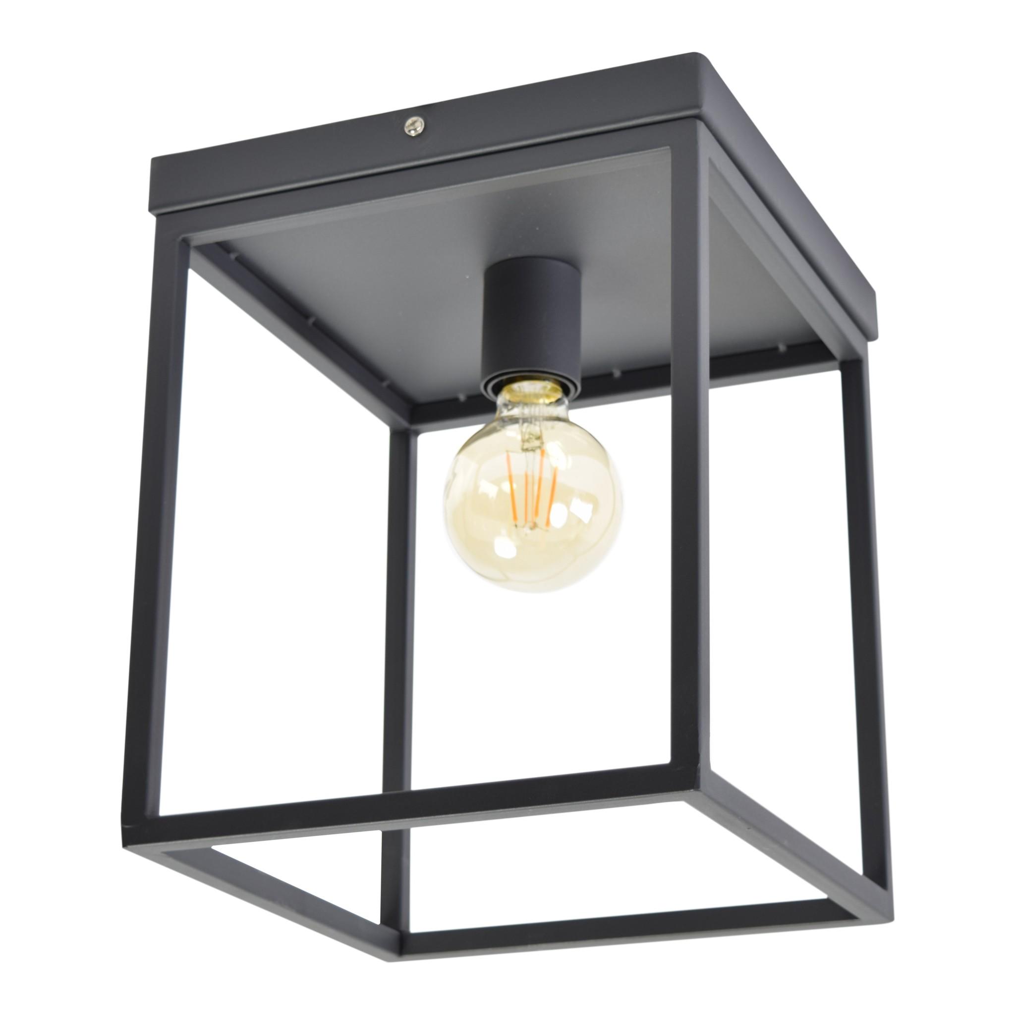 Urban Interiors Urban Interiors Plafondlamp Frame Zwart 25x25x31-13001-8719325171723