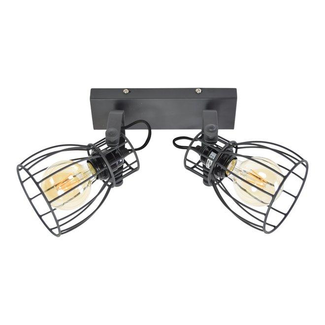 Urban Interiors Plafondspot Wire 2-lichts Zwart