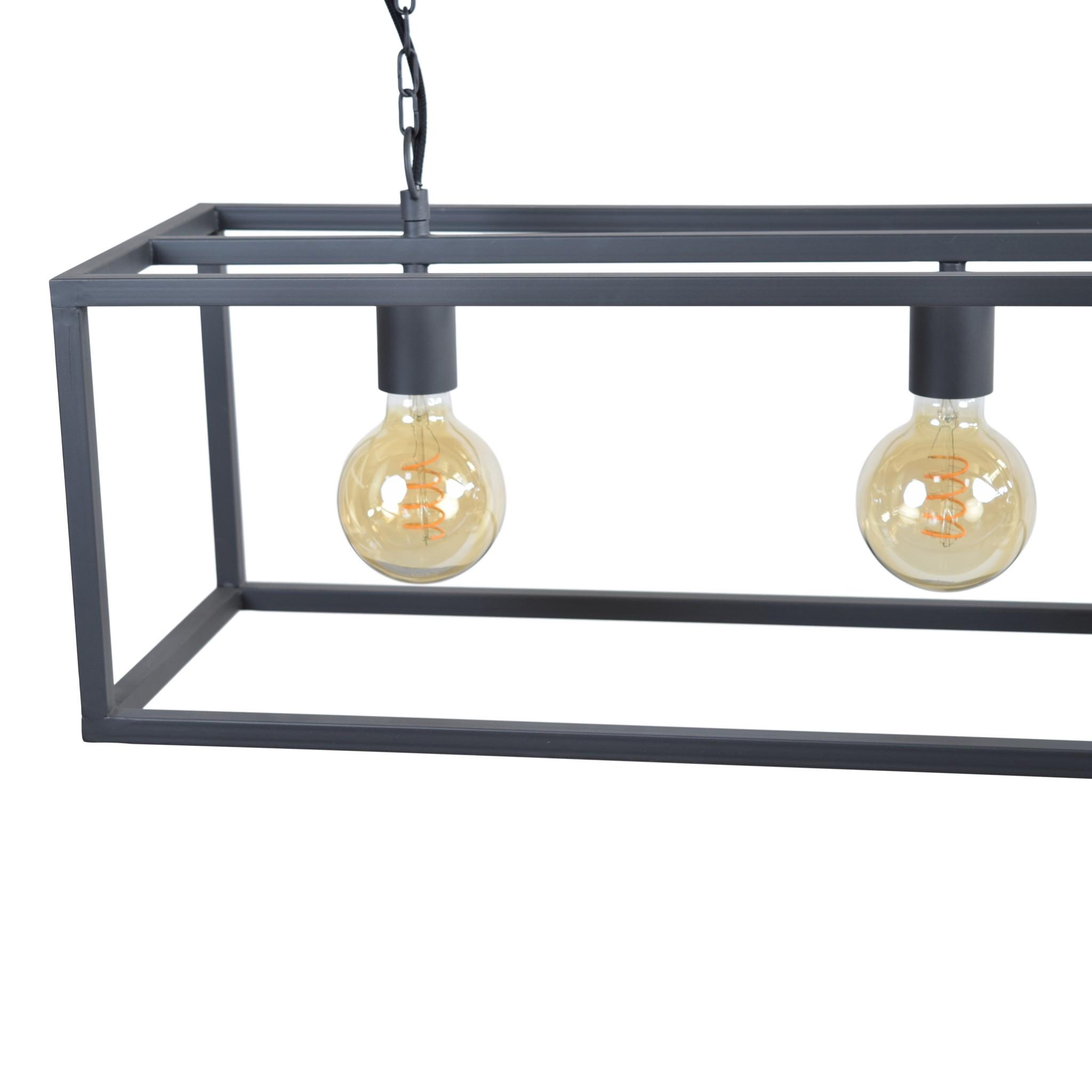 Urban Interiors Urban Interiors Hanglamp Frame 4-lichts 120cm Zwart