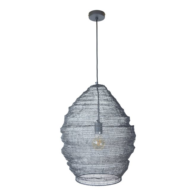 Urban Interiors Hanglamp Gaas dia 47cm.x60 Zwart