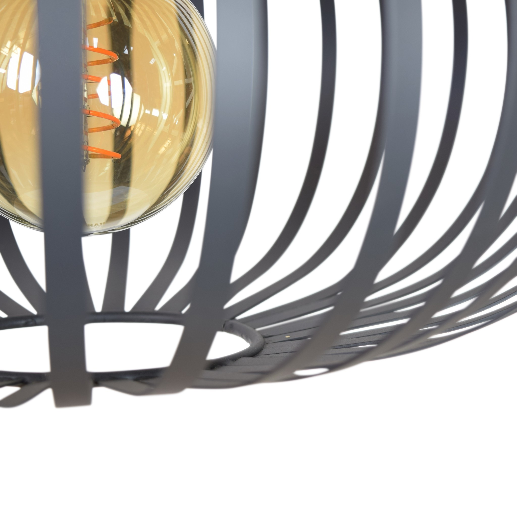 Urban Interiors Urban Interiors Plafondlamp Flow ø40x23 vintage black-AI-CL-13013-8719325467017