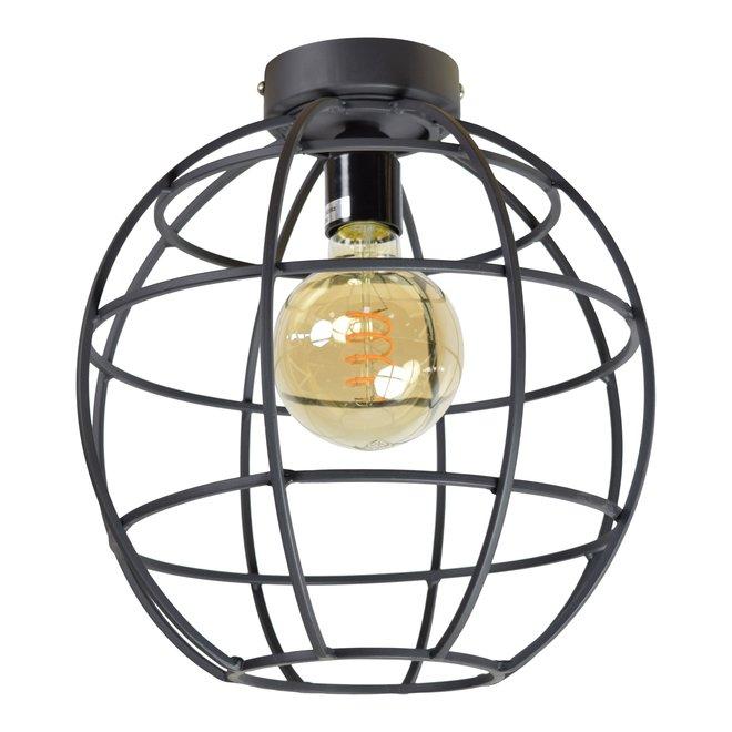 Plafondlamp Globe Large ø28x30 vintage black