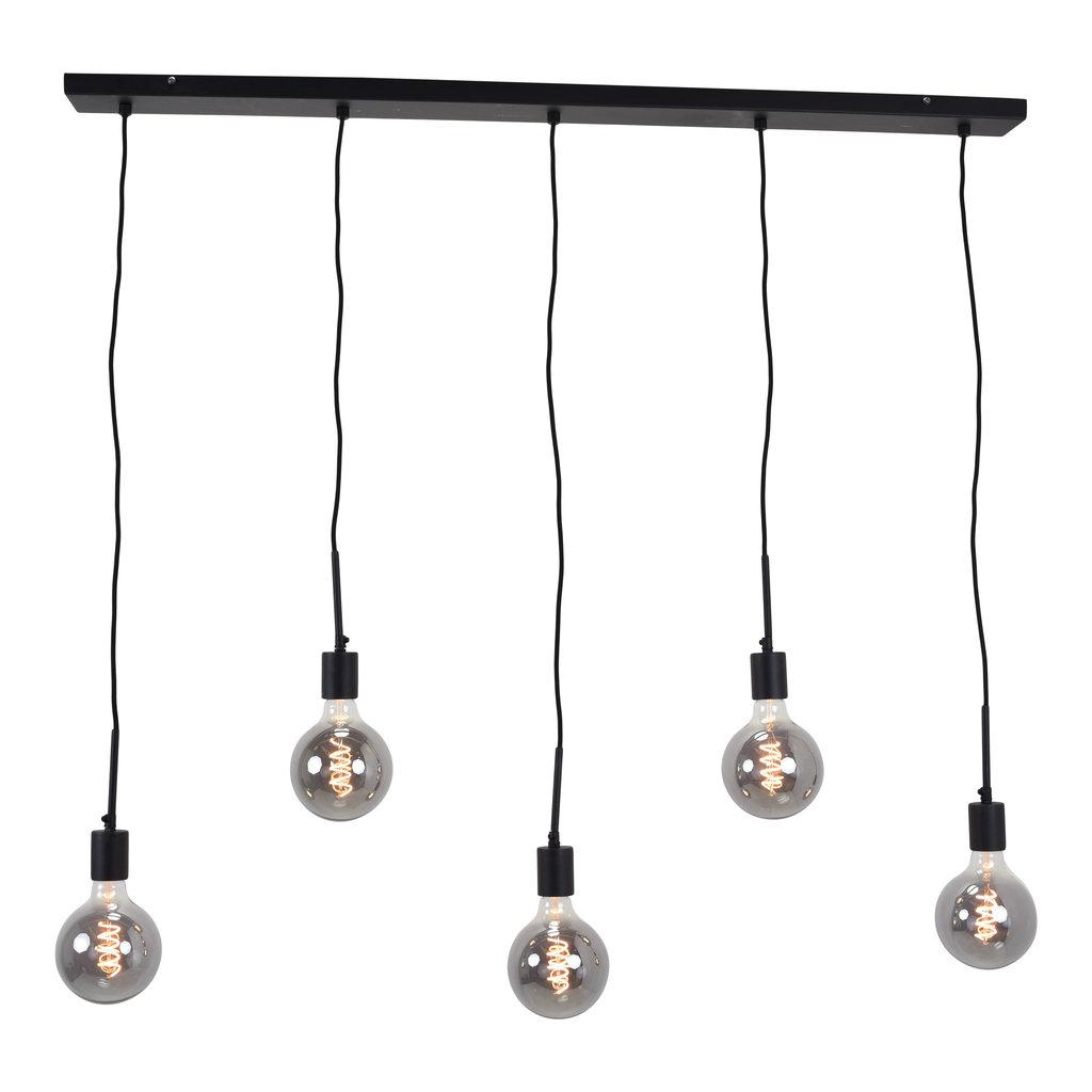 Urban Interiors Urban Interiors Hanglamp Bulby 5-lichts Zwart - AI-CL-2200-5