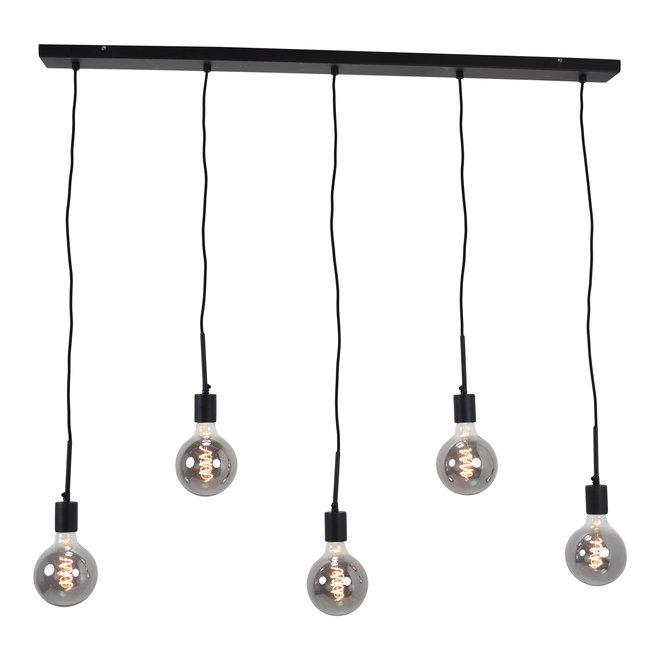 Hanglamp Bulby 5-lichts Zwart