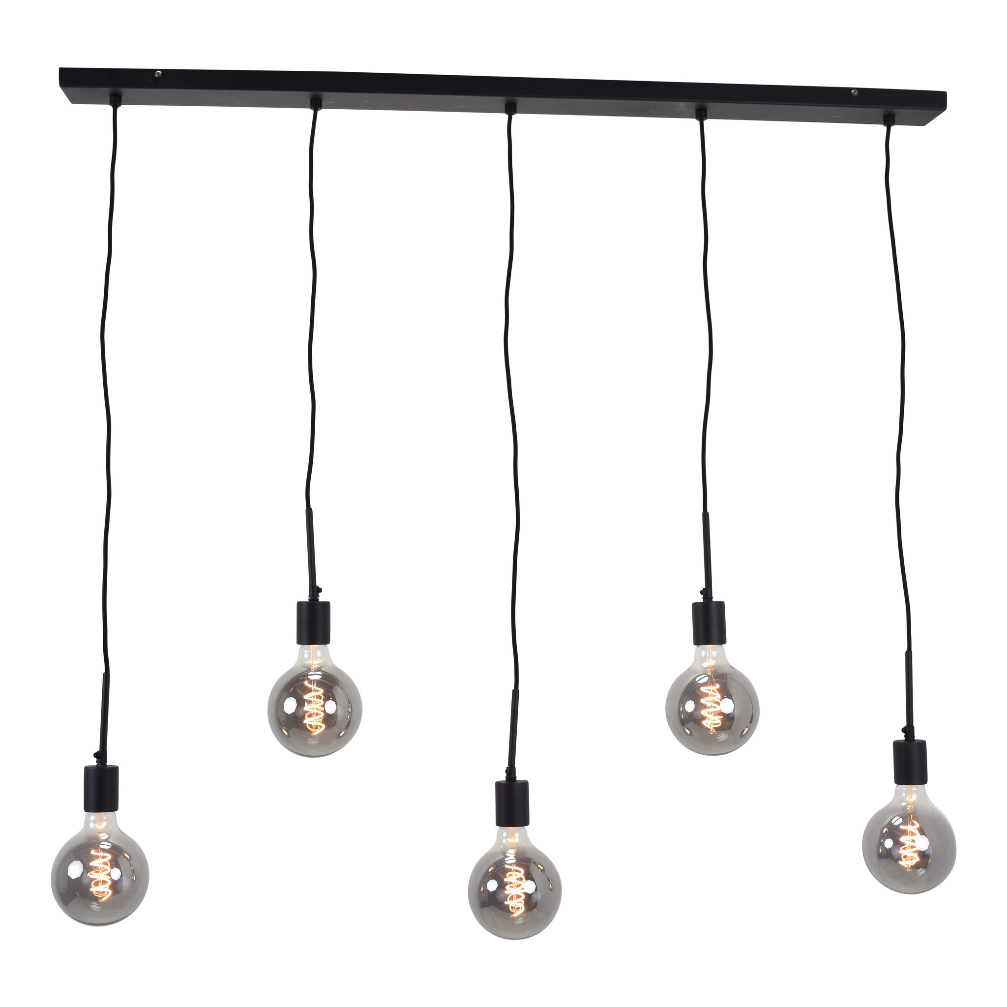 Urban Interiors Urban Interiors Hanglamp Bulby 5-lichts Zwart-AI-CL-2200-5-8719325467192