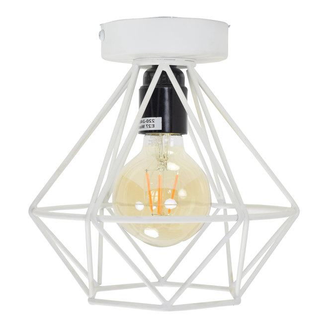 Plafondlamp Wire ø22cm. - Mat Wit