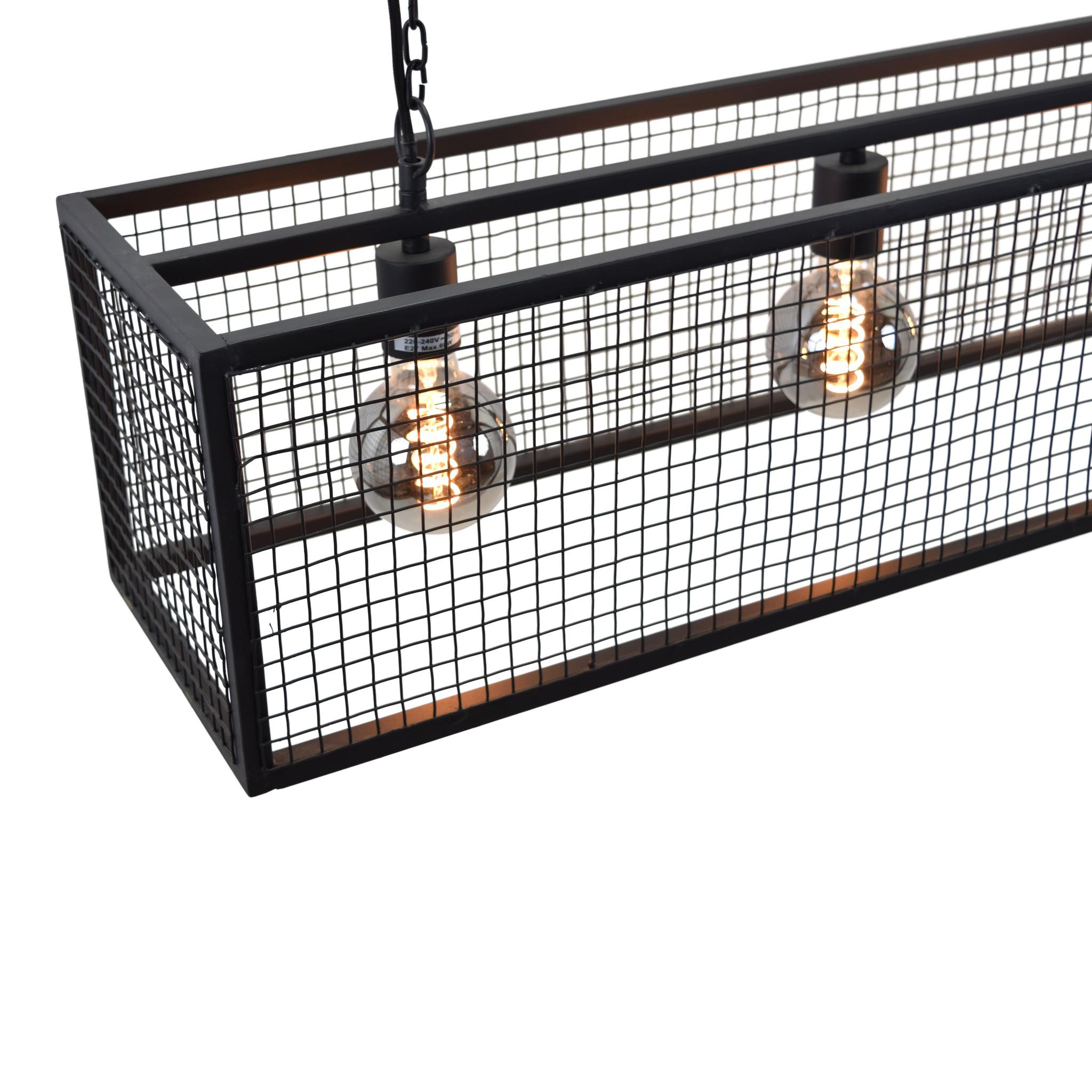 Urban Interiors Hanglamp Frame Gaas 4-lichts 120cm-AI-CL-14053-8719325467642