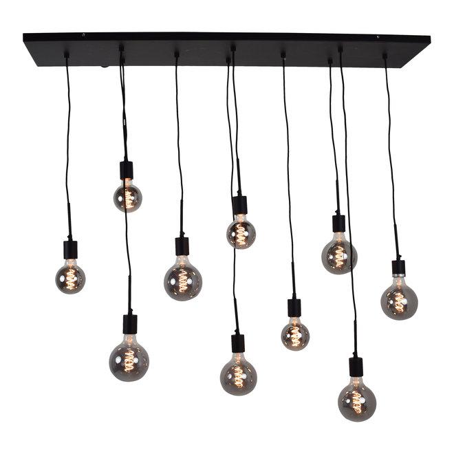 Hanglamp Bulby 10-lichts Zwart