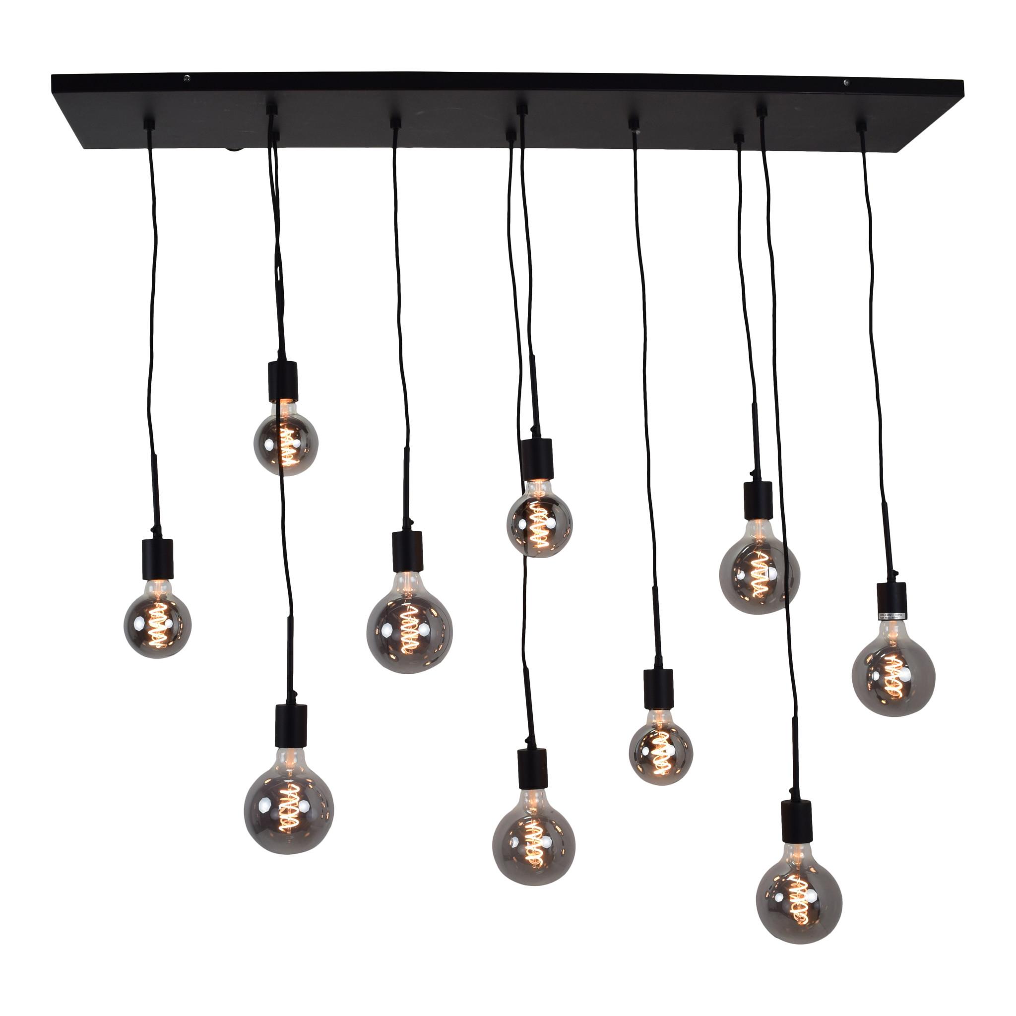 Urban Interiors Hanglamp Bulby 10-lichts Zwart-AI-CL-14052-8719325467659