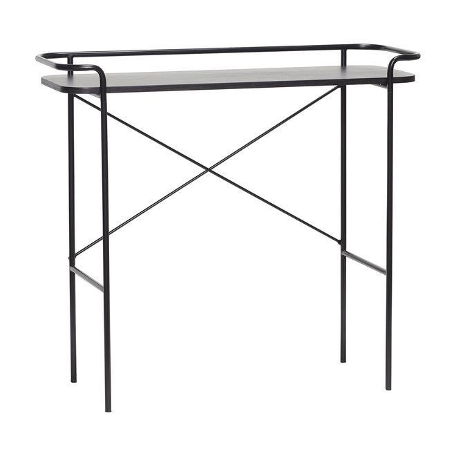 Console tafel, metaal, zwart