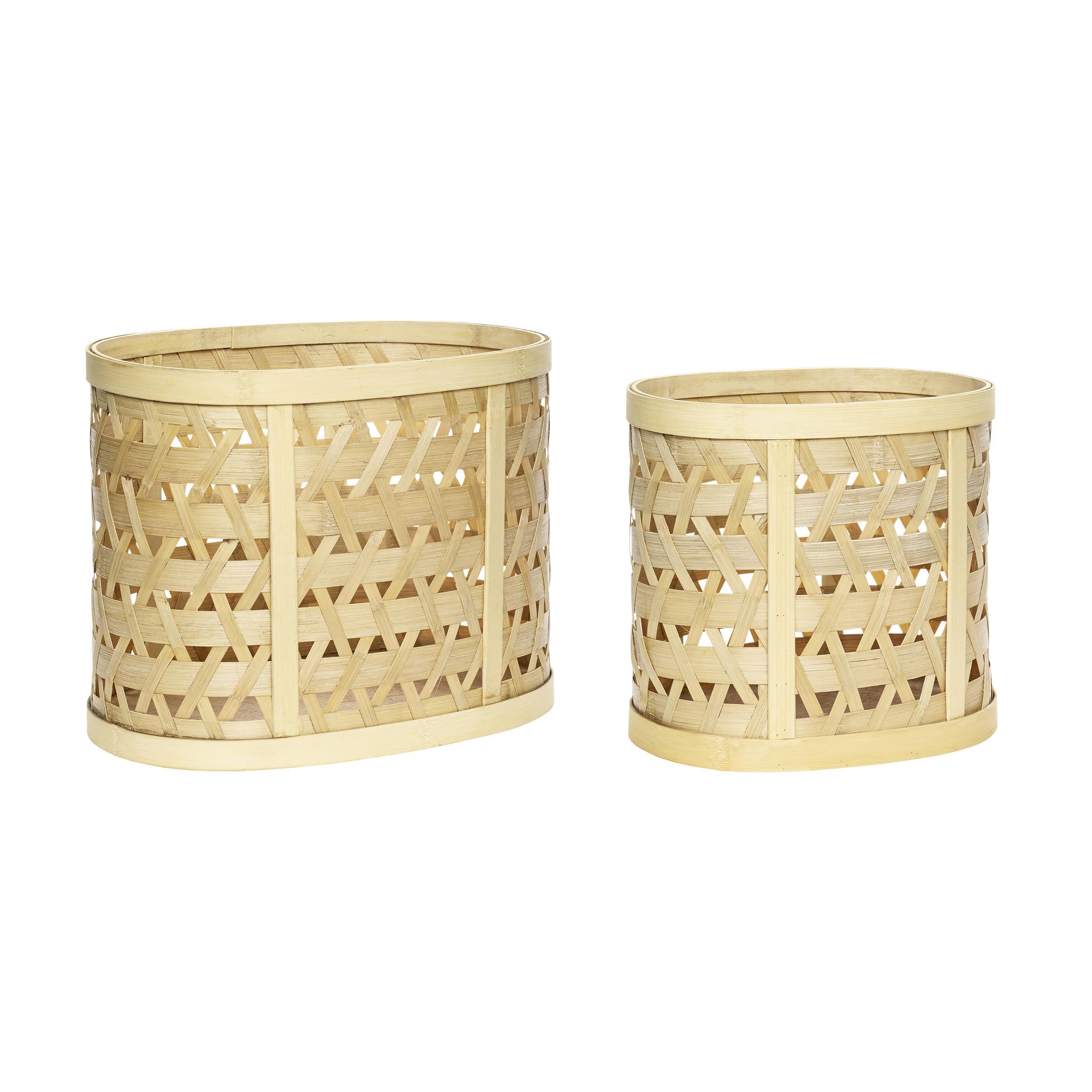 Hubsch Mand, bamboe, natuur, set van 2-30805-5712772068380