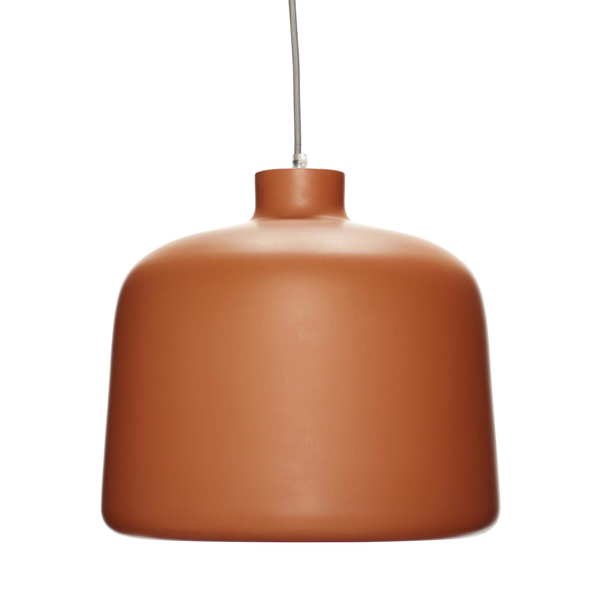Hubsch Lamp, aluminium, terracotta / wit-60503-5712772058534