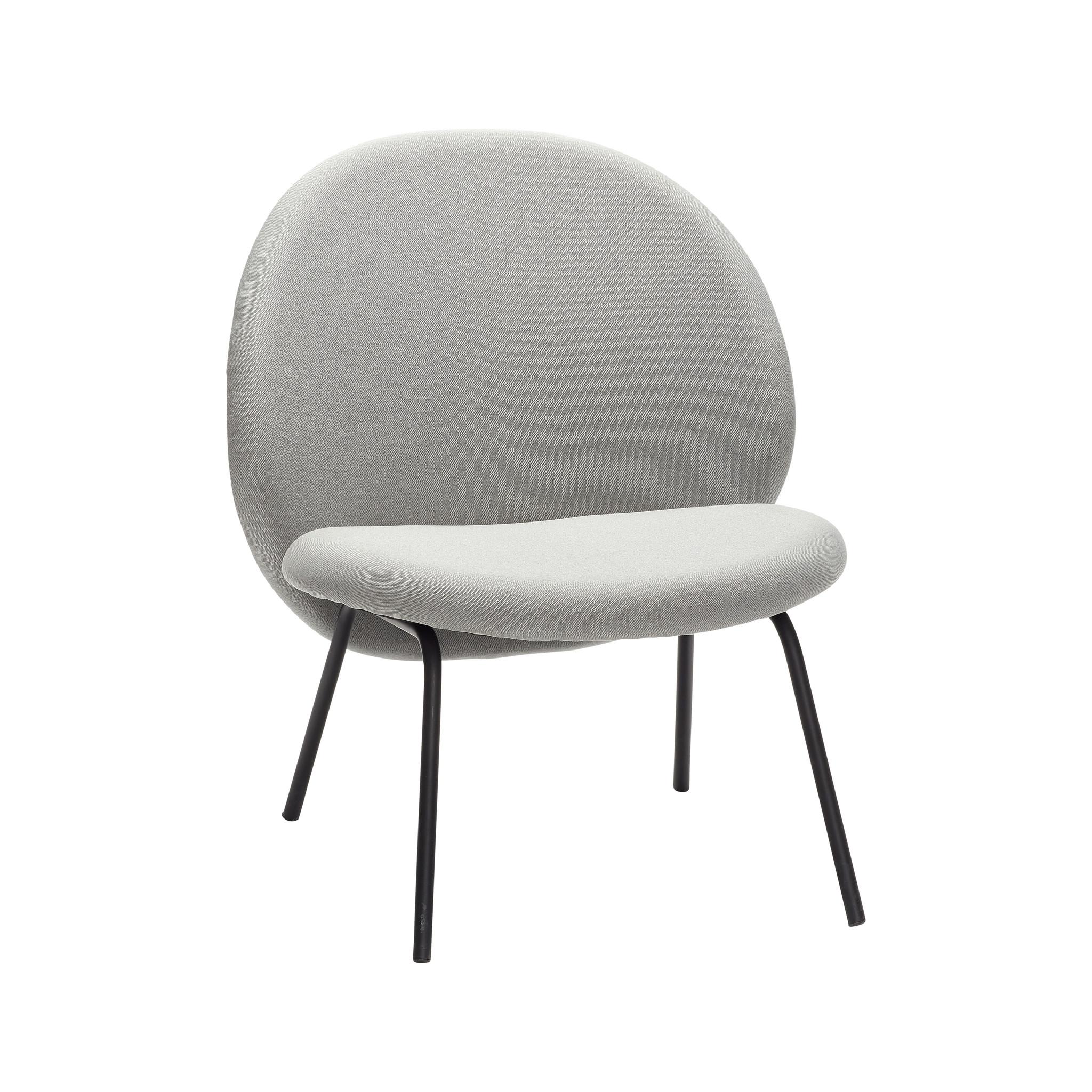 Hubsch Lounge stoel, metalen poten, zwart / grijs-100611-5712772054499