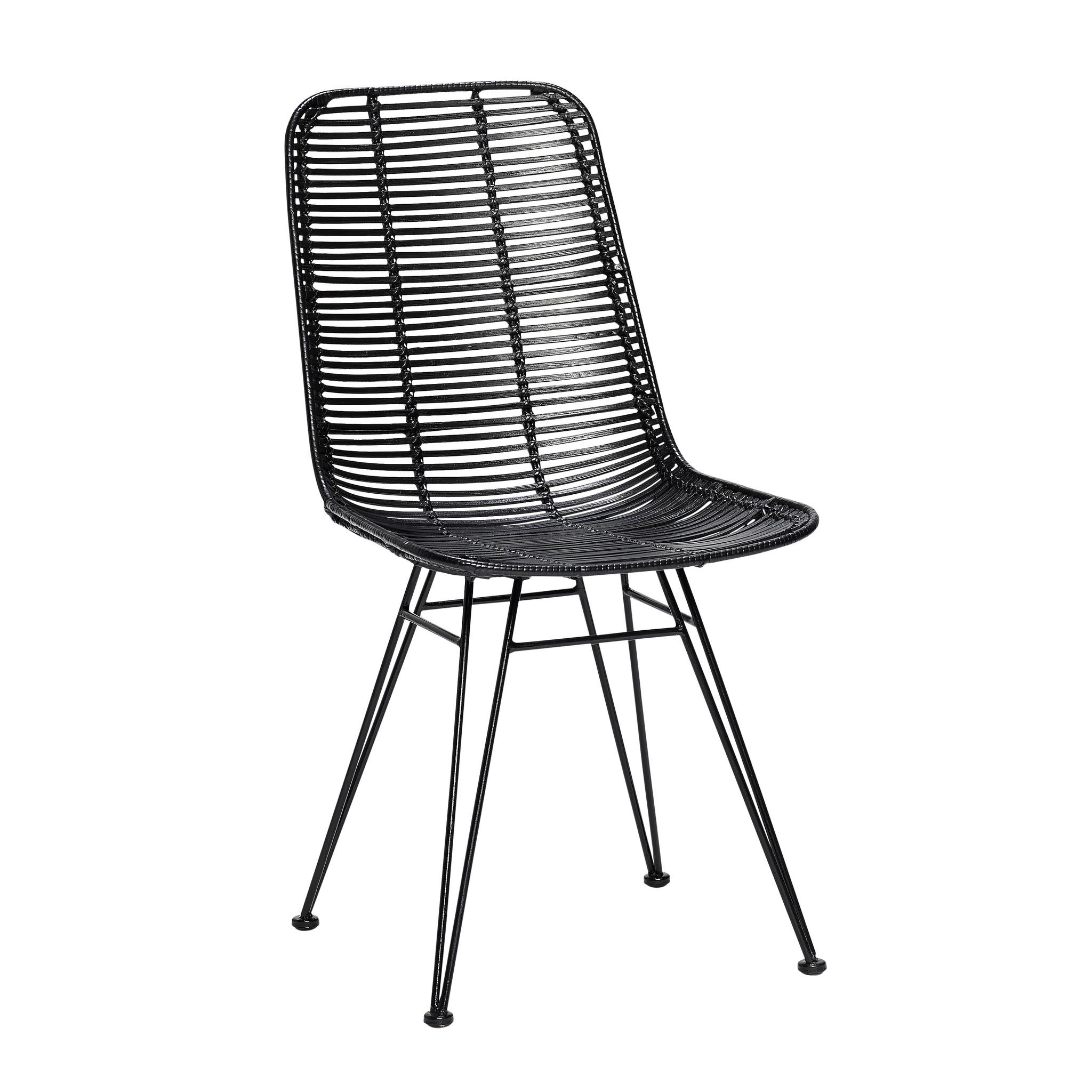 Hubsch Studio stoel, zwart