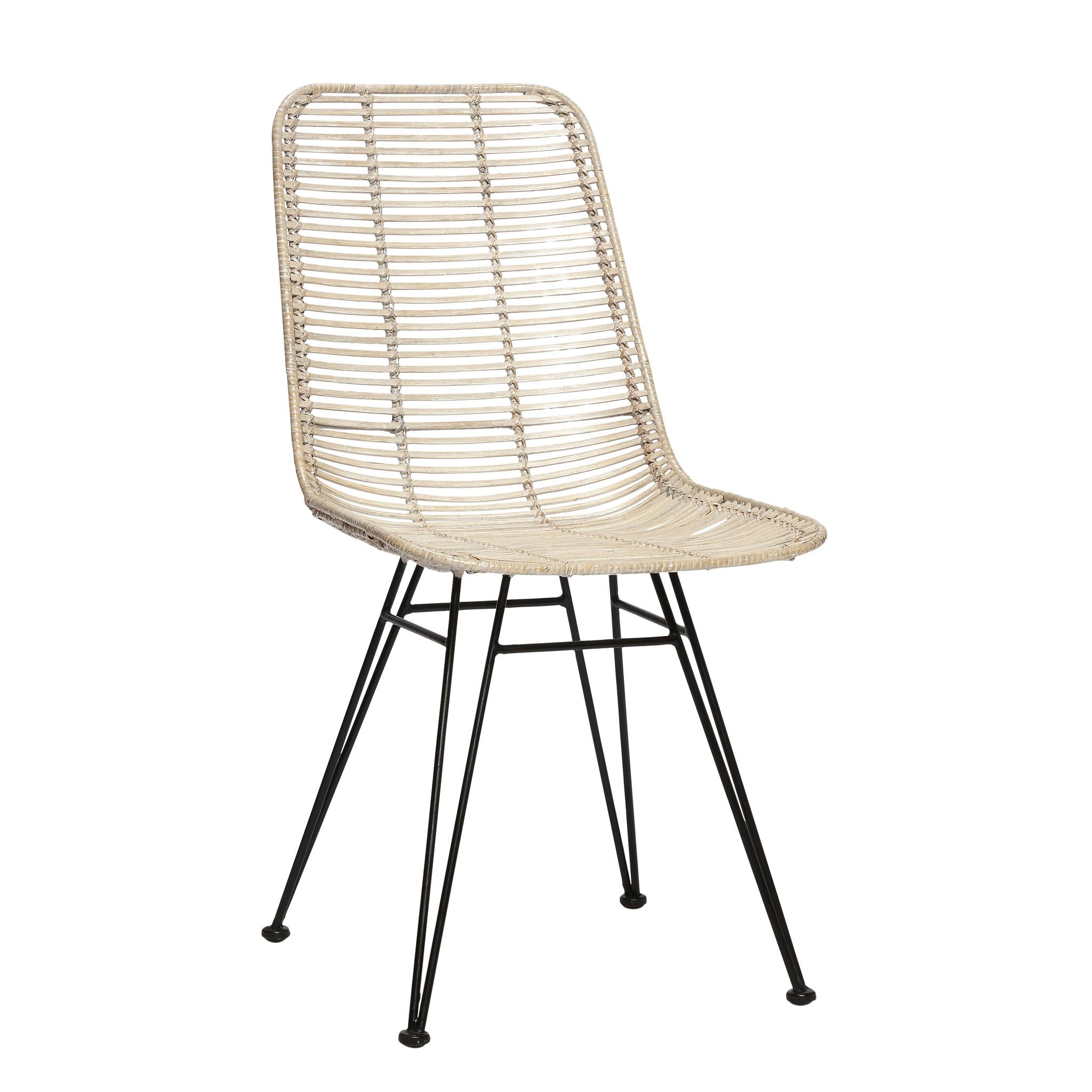 Hubsch Studio stoel, whitewash