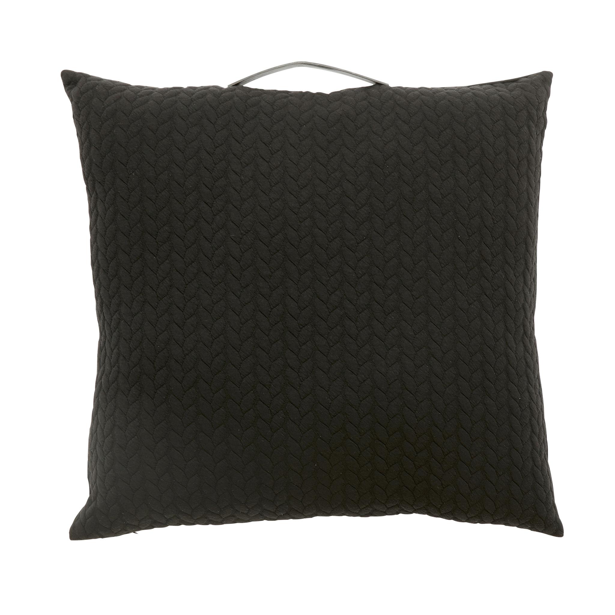 Hubsch Kussen met handvat / patroon / vuller, zwart