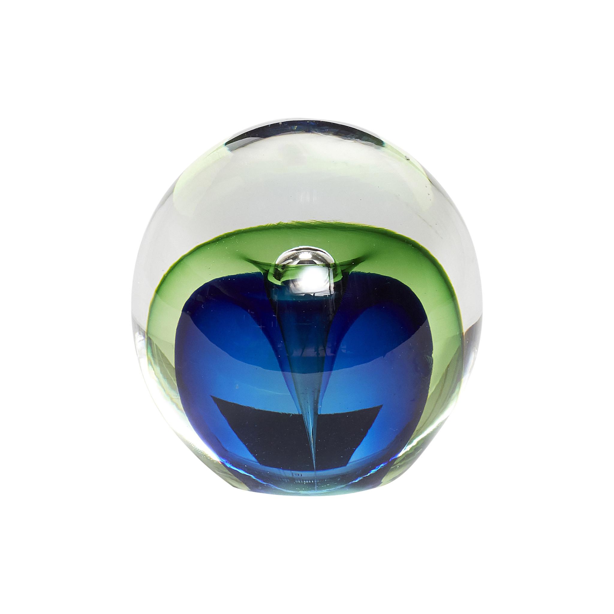 Hubsch Presse-papier, glas, blauw / groen-160601-5712772061046