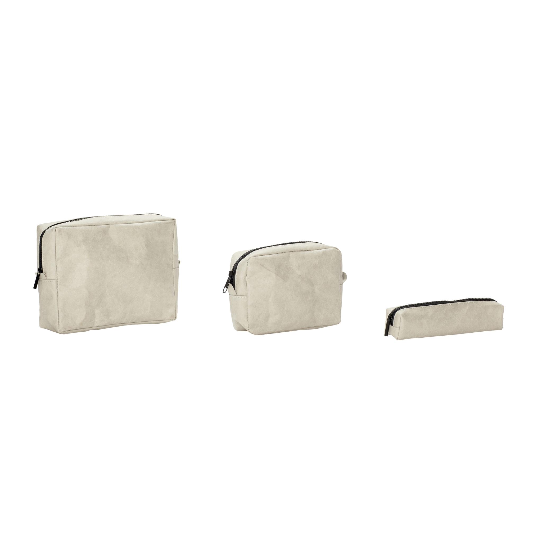 Hubsch Zakje, vierkant, wasbaar papier, zand, set van 3