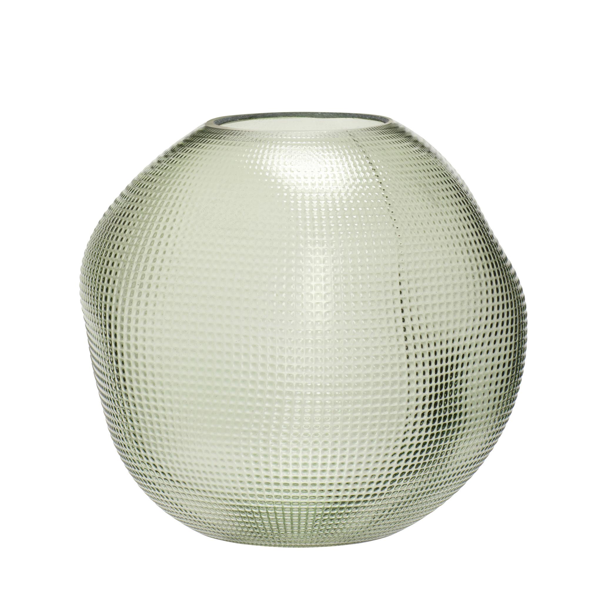 Hubsch Vaas, glas, groen-180901-5712772061473