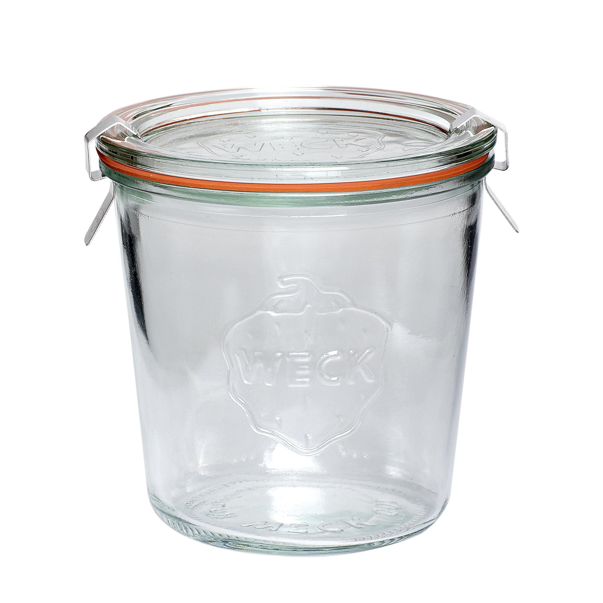 """Hubsch Voorraadpot met deksel, """"Weck"""", glas, 580 ml"""