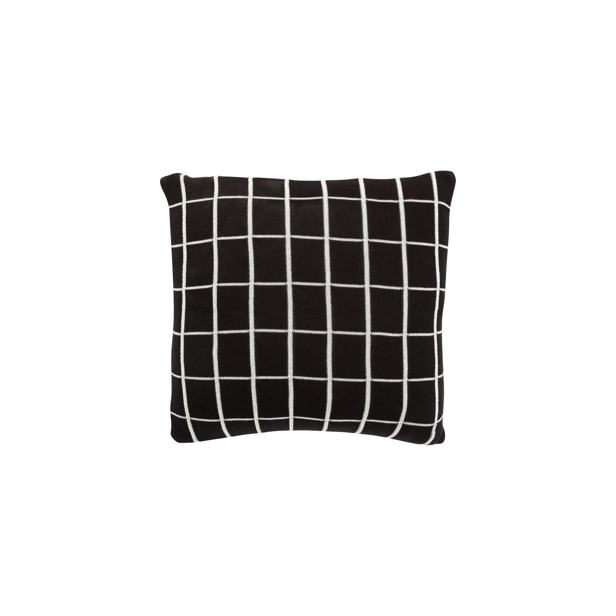 Hubsch Kussen met patroon / opvulling, katoen, zwart / wit