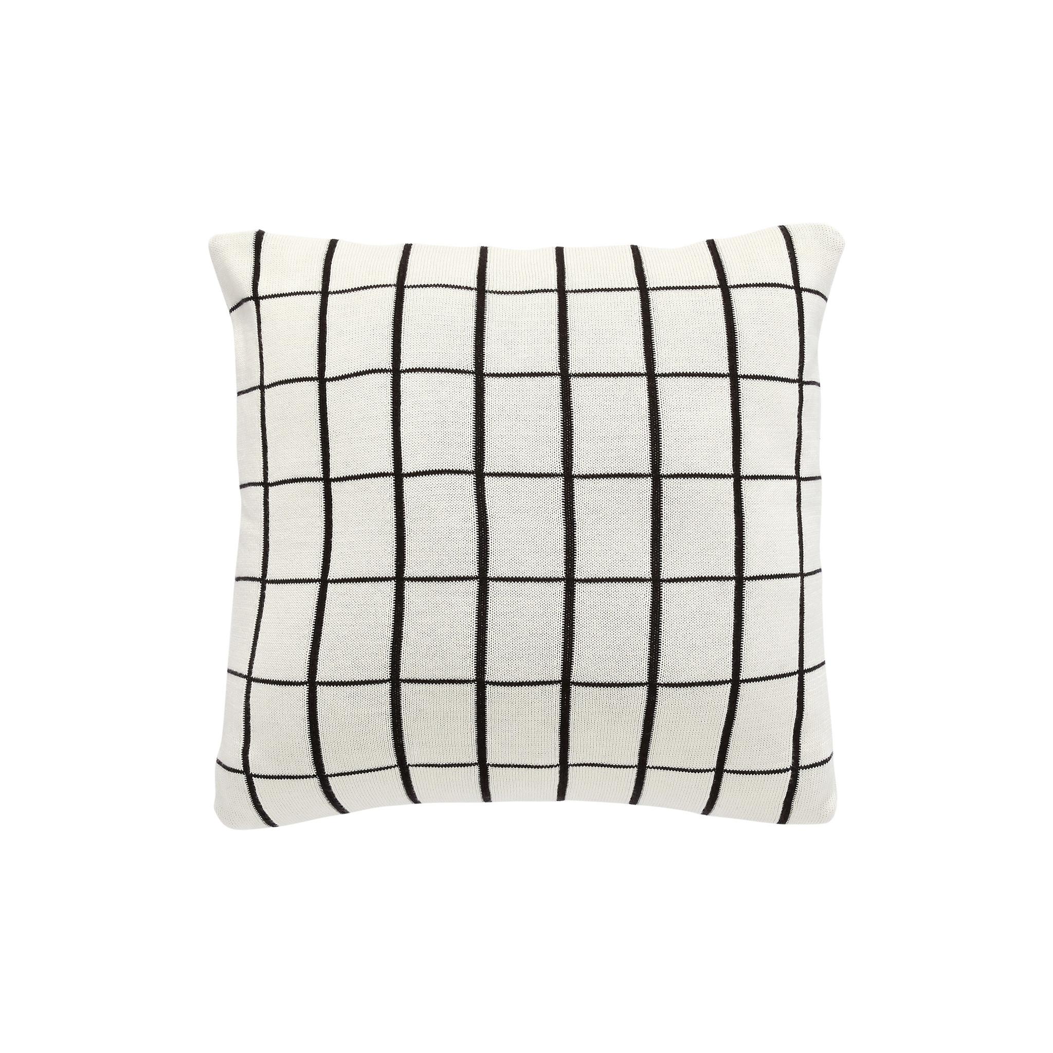 Hubsch Kussen met patroon, katoen, wit / zwart