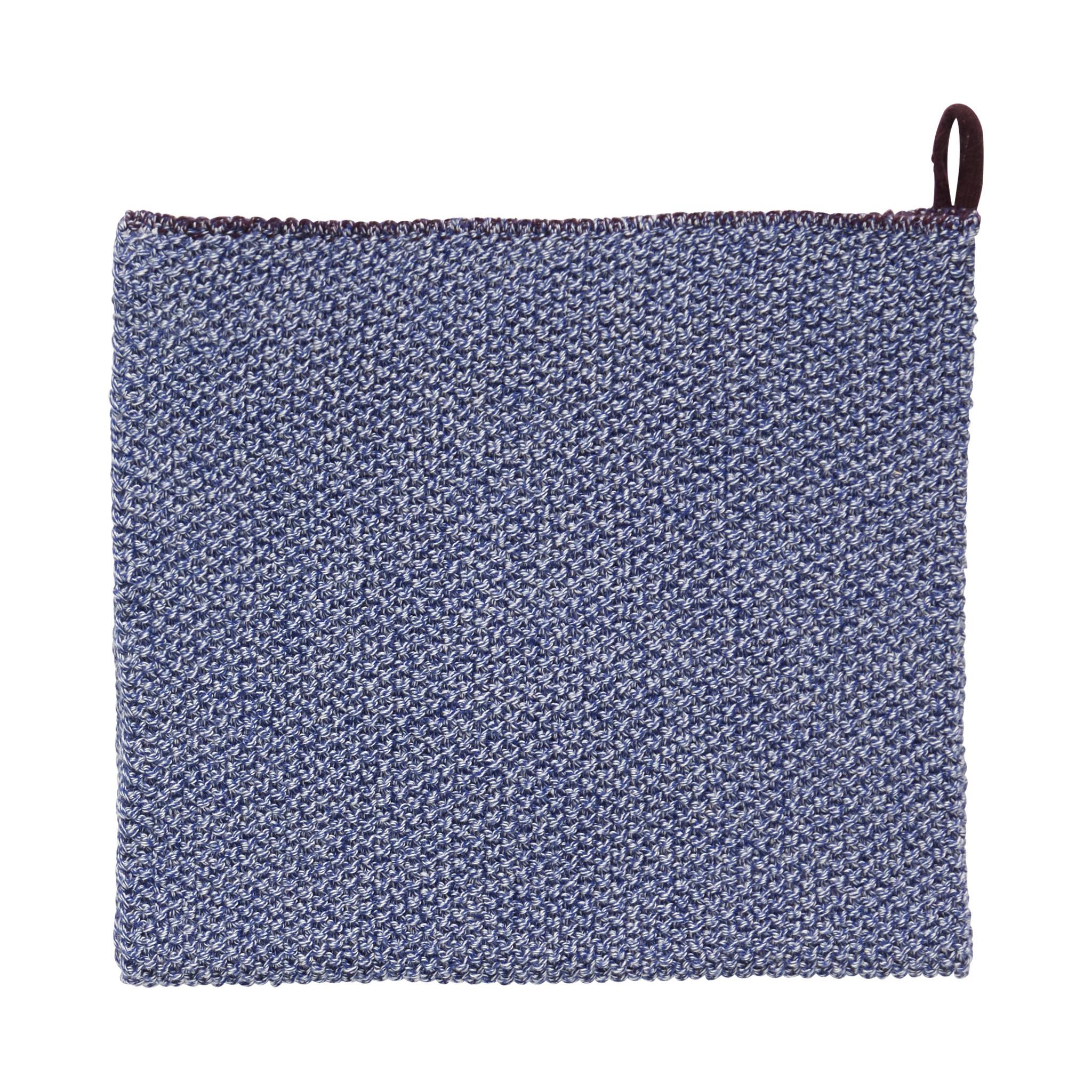 Hubsch Theedoek, blauw / wit / paars-220709-5712772067024